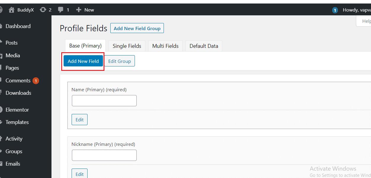 BuddyPress XProfile Custom Image Field plugin